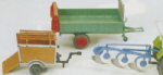 Preiser 17918 : HO Scale Plough & Dung Spreader